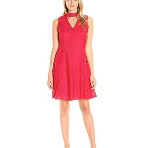 NWT London Times red flared midi size 12
